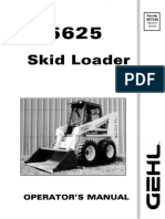 5625 Operator Manual GEHL skid steer