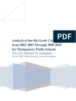 Analysis of the 6th Grade Cohort From 2002-2003 Through 2009-2010 for Montgomery Public Schools