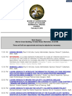 Fauquier BOS Agenda Feb. 8, 2018