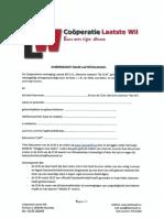 Documenten Coöperatie Laatste Wil (CLW)