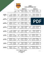 Copa Postobon Fixture 2012 Final