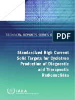Standardized High Current Solid Targets for Cyclotron Production of Diagnostic and Therapeutic Radionuclides