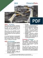 Chiasma GDPR Summary