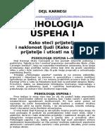 PSIHOLOGIJA USPEHA 1 - Dejl Karnegi - srpski prevod - word 2003