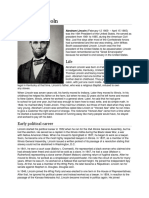 Abraham Lincoln biography