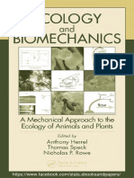 ECOLOGY and BIOMECHANICS a Mechanical Approach to the Ecology