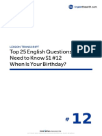 12 When is Your Birthday - Script