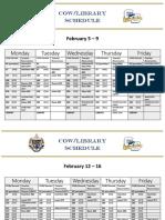 cow-library calendar