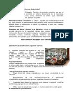 Industrias de Acuerdo Al Sector de Actividad