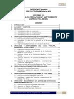 Vol. XII Manual de Operaciones y Mantenimiento