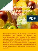 eBook de Águas Aromatizadas, Sucos e Sobremesas