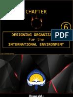 Organizational Theory Chapter 6