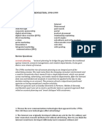 Ch 9 Study Guide 1990-1999