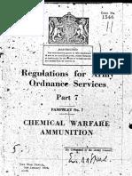 Pamphlet No 7 Chemical Warfare Ammunition 1946