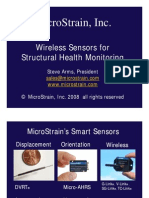 Micro Strain Wireless Sensors Aircraft Structural Health Monitoring 2008