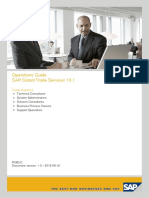 SAP Global Trade Services 10.1 Operational Guide