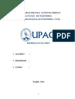 Monografia de Represas en El Peru
