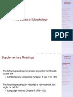 Morphology 1
