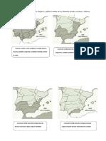 Ejercicios de Mapas Mudos de La Reconquista