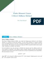 FEM - 5 Direct Stiffness Method