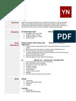 resume template 2018