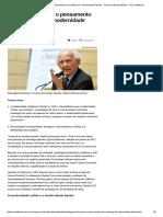 Zygmunt Bauman_ o Pensamento Do Sociólogo Da _modernidade Líquida_ - Resumo Das Disciplinas - UOL Vestibular