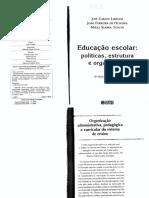 Texto Ed. Escolar politicas, estrutura e organização