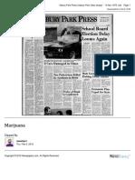 Marijuana story in 1975 in the Asbury Park Press