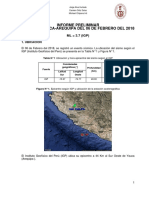 Informe Del Sismo de Yauca-Arequipa