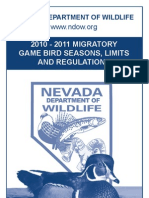 2010 - 2011 Migratory Game Bird Seasons, Limits and Regulations