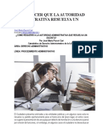 Cómo Hacer Que La Autoridad Administrativa Resuelva Un Escrito