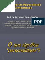 Transtornos Personalidade e Criminali