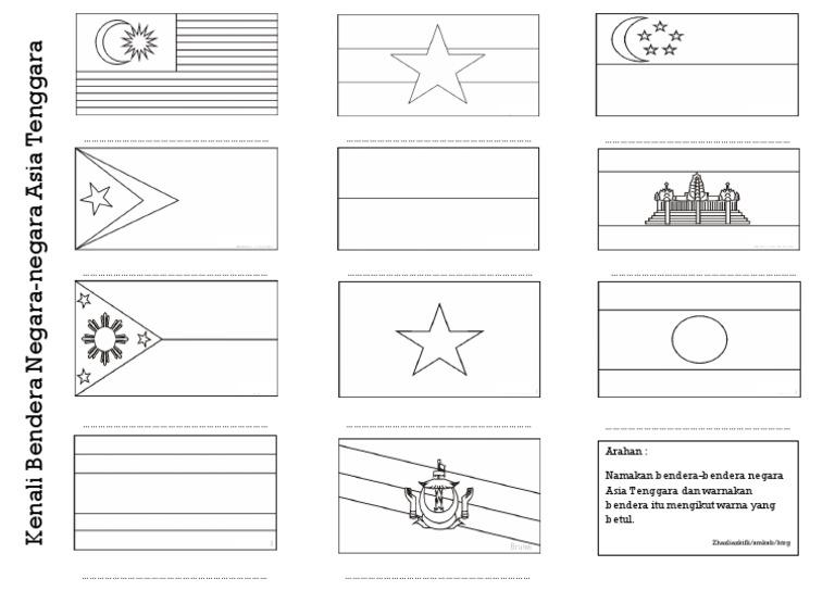 Aktiviti Kenali Bendera Negara Negara Asia Tenggara