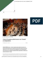 """07-02-18 Más de 20 senadores pedirán licencia; crece """"bancada"""" de independientes - Proceso"""