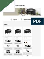 Pianos Digitais CELVIANO Instrumentos Musicais Eletrônicos CASIO