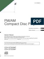 Toca CD Sony