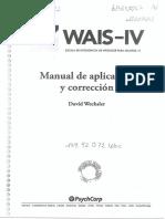 WAIS IV Manual de Aplicacion y Correccion. Español