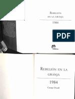 Rebelion en La Granja 1984_George Orwell
