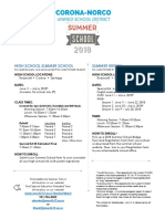 summer school district flyer 2018