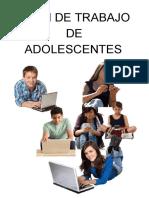 Plan de Trabajo Adolescentes
