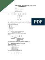 pembahasan matematika SMP