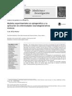 14 Modelos Experimentales en Optogenetica