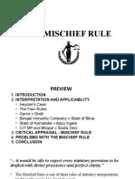 The Mischief Rule