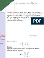Algebra Lineal Matriz Transpuesta