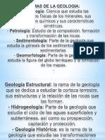 Ramas de La Geologia