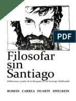 Filosofar sin Santiago. Reflexiones a partir de la desaparición de Santiago Maldonado