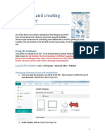 Designing and Creating You Poster-Publisher Set-up and PDF Directions