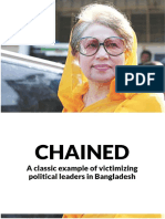 CHAINED: A Classic Example of Victimizing Political Leaders in Bangladesh