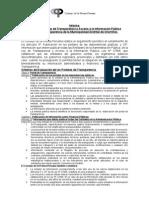 Cumplimiento Ley de Transparencia en Chorrillos