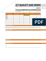 Daily Quality and Inspection Report